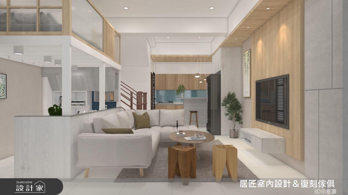 60坪新成屋(5年以下)_混搭風案例圖片_居匠室內設計&復刻傢俱_居匠_30之2