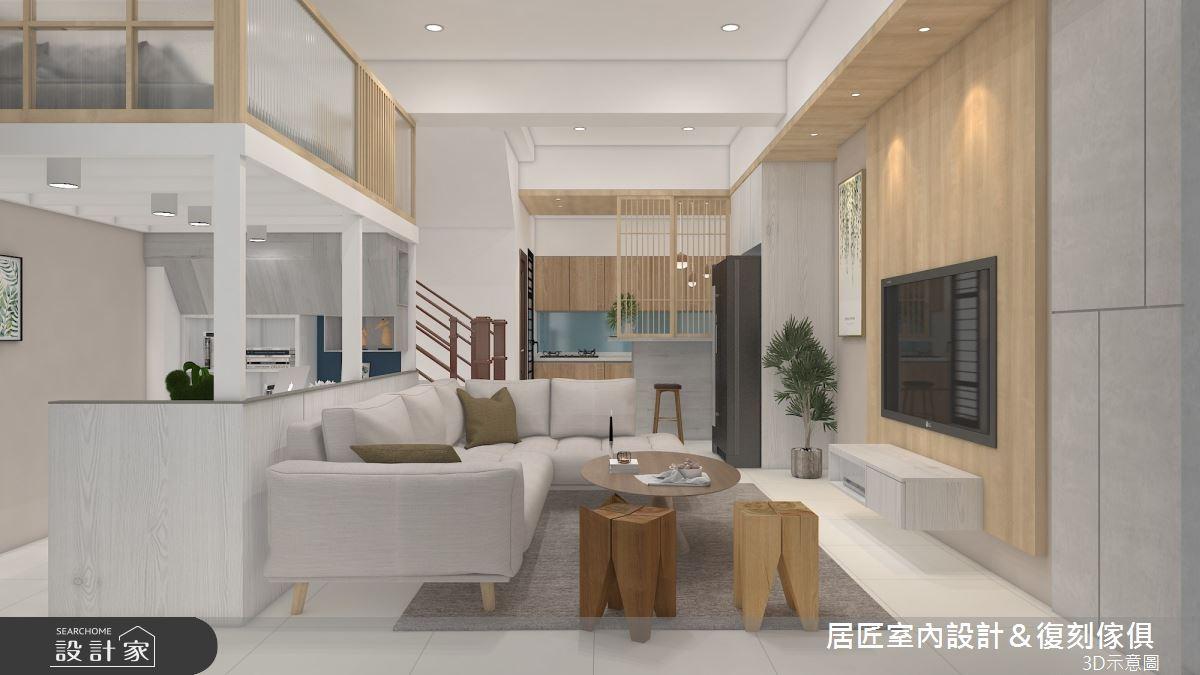 60坪新成屋(5年以下)_混搭風案例圖片_居匠室內設計&復刻傢俱_居匠_30之3