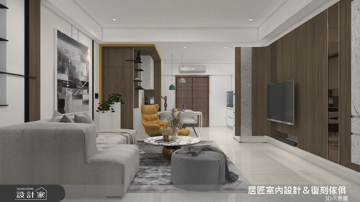 53坪新成屋(5年以下)_混搭風案例圖片_居匠室內設計&復刻傢俱_居匠_31之1