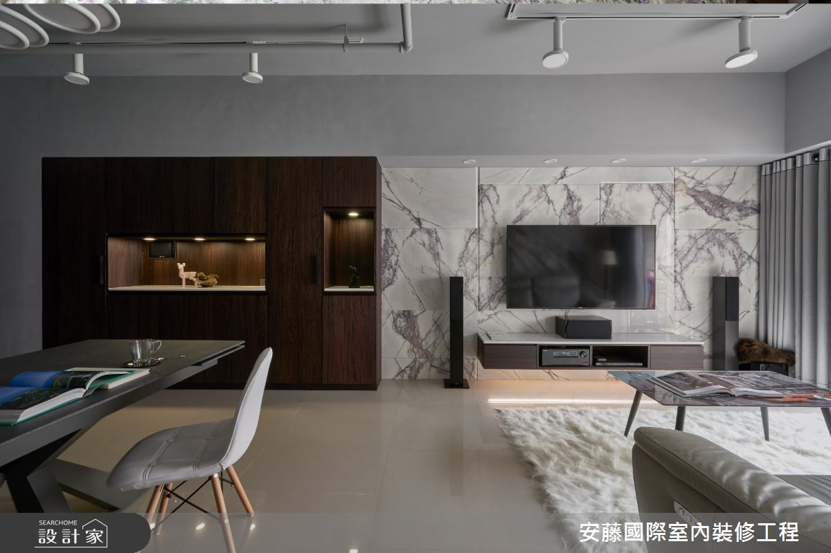 20坪新成屋(5年以下)_現代風客廳餐廳案例圖片_安藤國際室內裝修工程有限公司_安藤_09之2