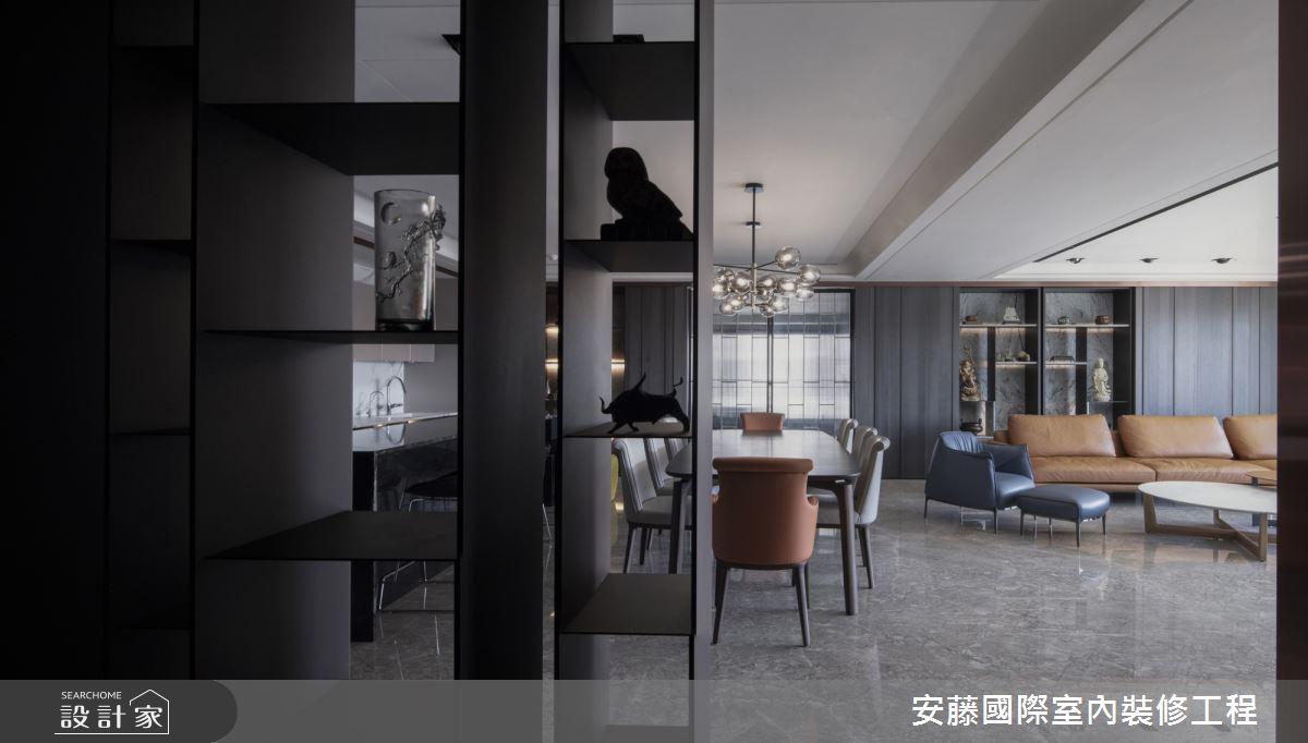 99坪新成屋(5年以下)_混搭風客廳餐廳案例圖片_安藤國際室內裝修工程有限公司_安藤_14之3