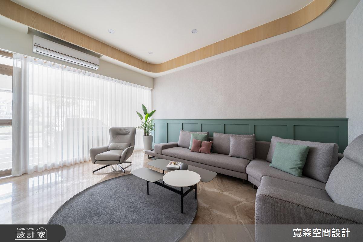 120坪新成屋(5年以下)_混搭風客廳案例圖片_寬森空間設計有限公司_寬森_05之4