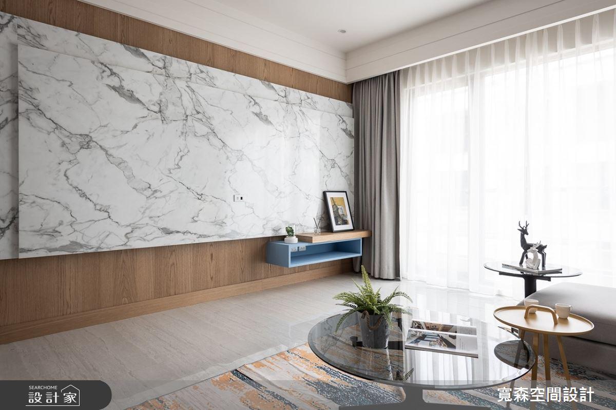 50坪新成屋(5年以下)_混搭風客廳案例圖片_寬森空間設計有限公司_寬森_06之3