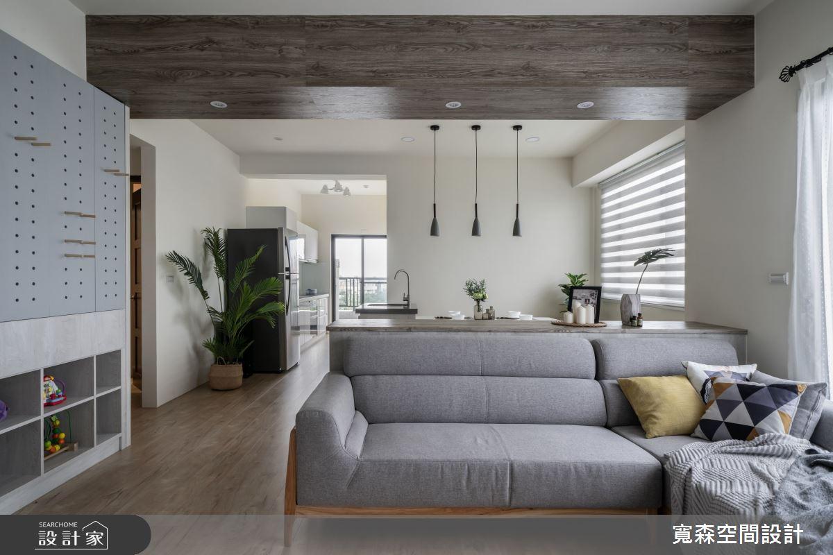 40坪新成屋(5年以下)_北歐風客廳案例圖片_寬森空間設計有限公司_寬森_10之2