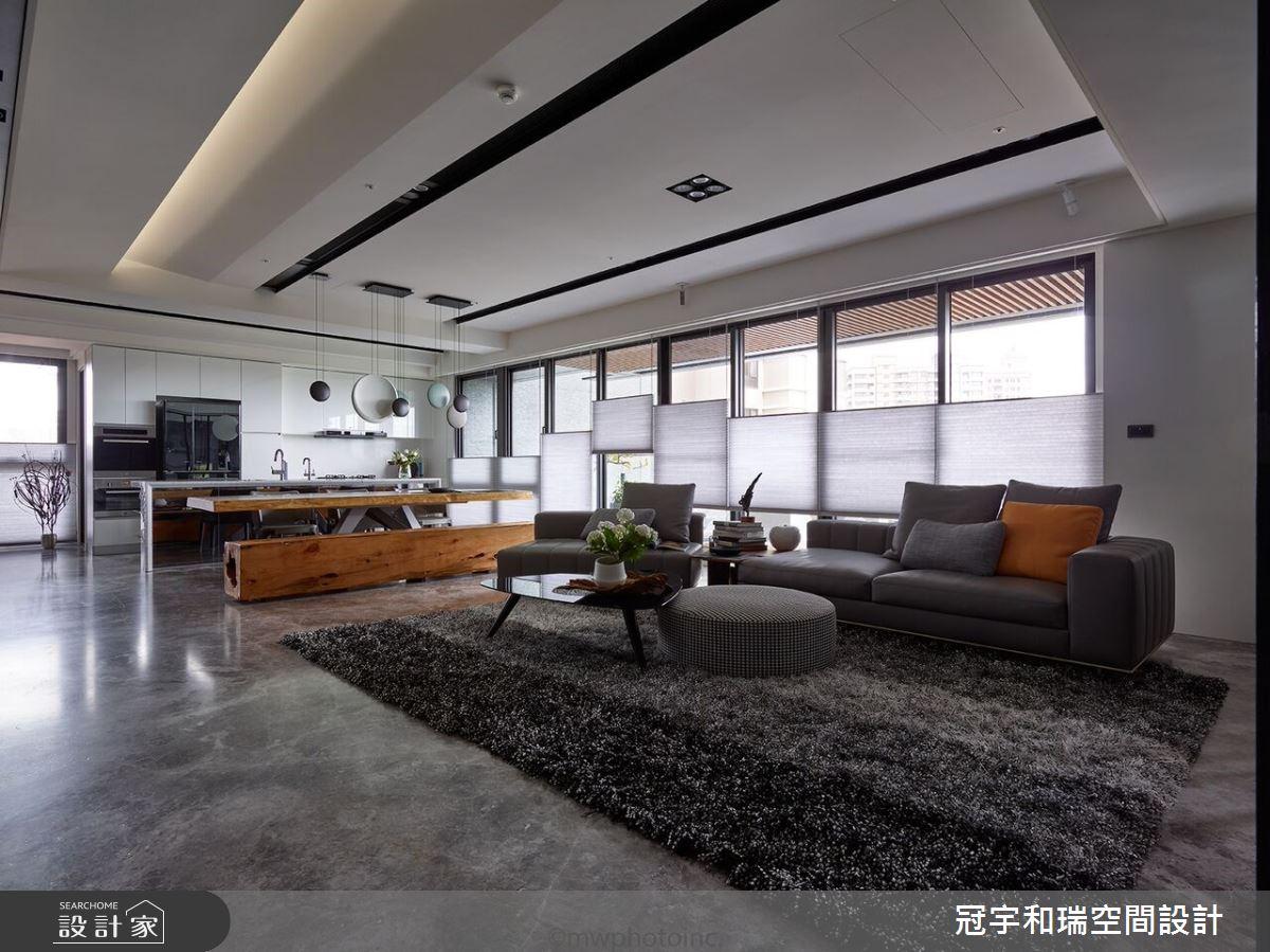 75坪新成屋(5年以下)_現代風客廳案例圖片_冠宇和瑞空間設計有限公司_冠宇和瑞_01之2