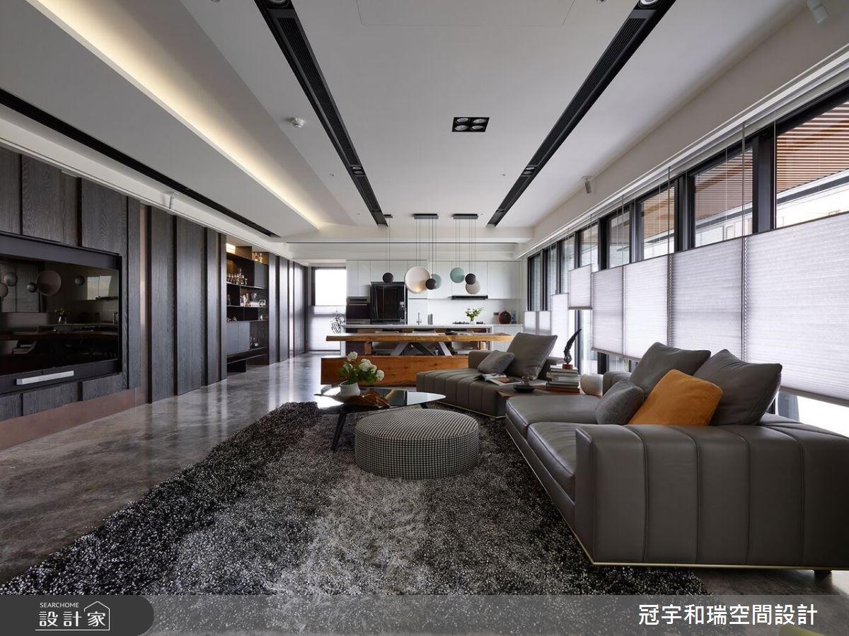 75坪新成屋(5年以下)_現代風客廳案例圖片_冠宇和瑞空間設計有限公司_冠宇和瑞_01之3