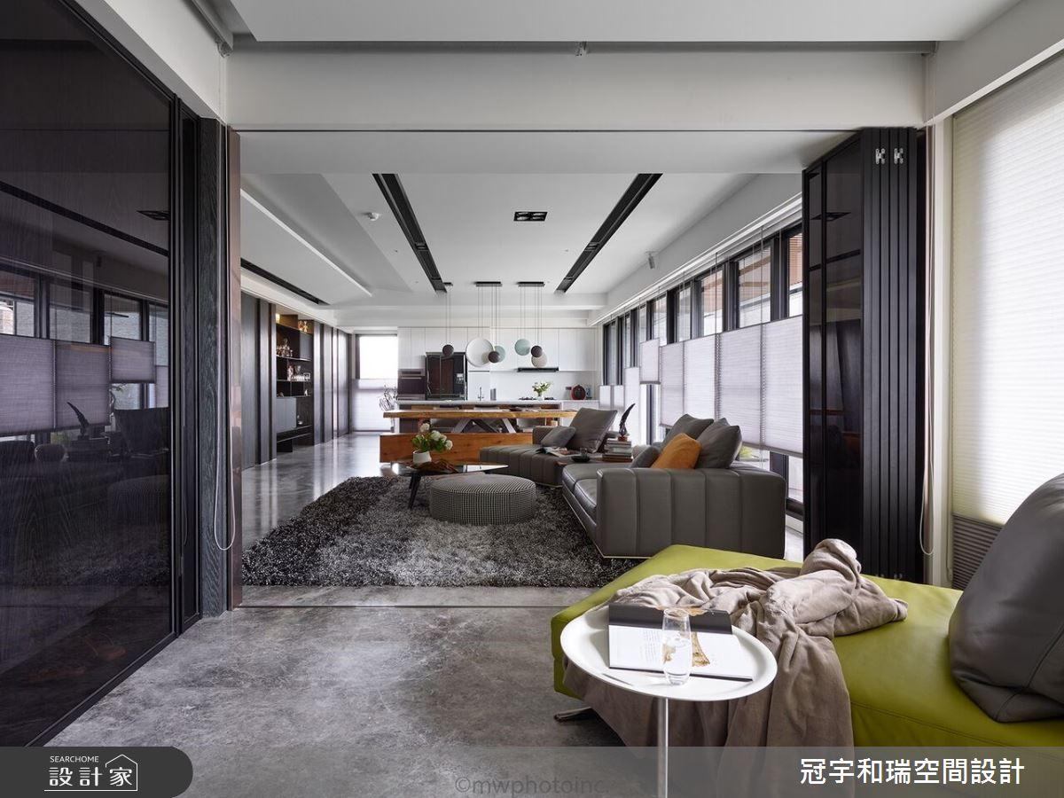 75坪新成屋(5年以下)_現代風客廳案例圖片_冠宇和瑞空間設計有限公司_冠宇和瑞_01之4