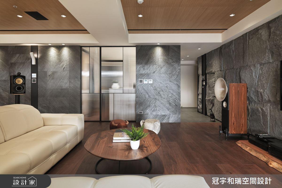 72坪新成屋(5年以下)_現代風客廳案例圖片_冠宇和瑞空間設計有限公司_冠宇和瑞_02之4