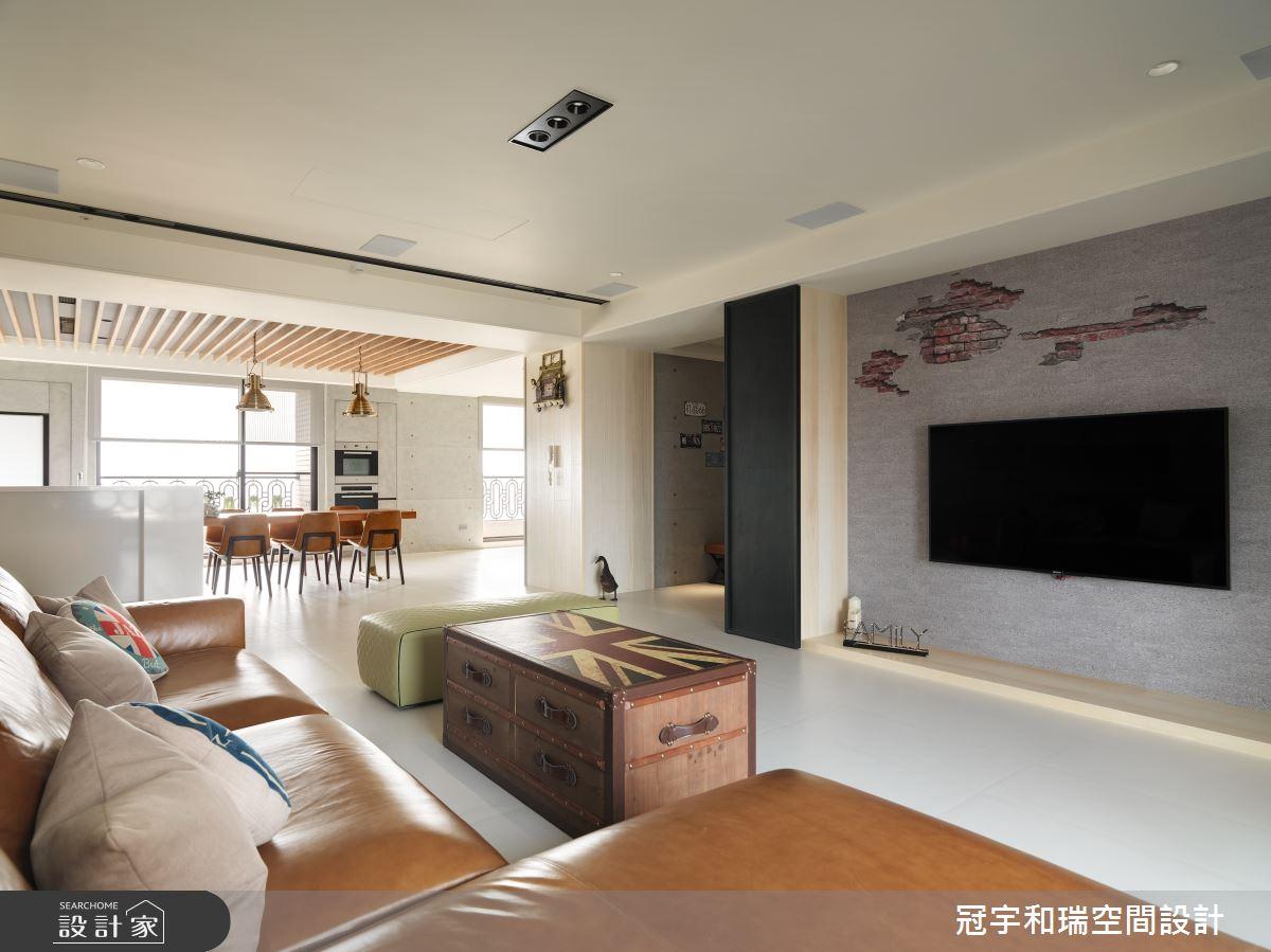 100坪新成屋(5年以下)_混搭風客廳案例圖片_冠宇和瑞空間設計有限公司_冠宇和瑞_06之2