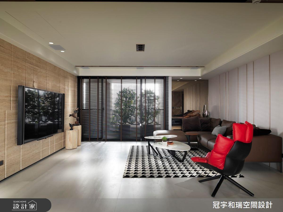 100坪新成屋(5年以下)_混搭風客廳案例圖片_冠宇和瑞空間設計有限公司_冠宇和瑞_07之2