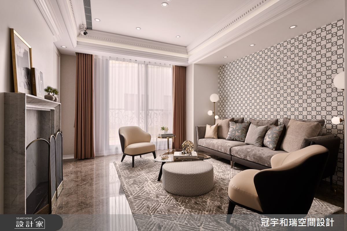 70坪新成屋(5年以下)_奢華風客廳案例圖片_冠宇和瑞空間設計有限公司_冠宇和瑞_11之3