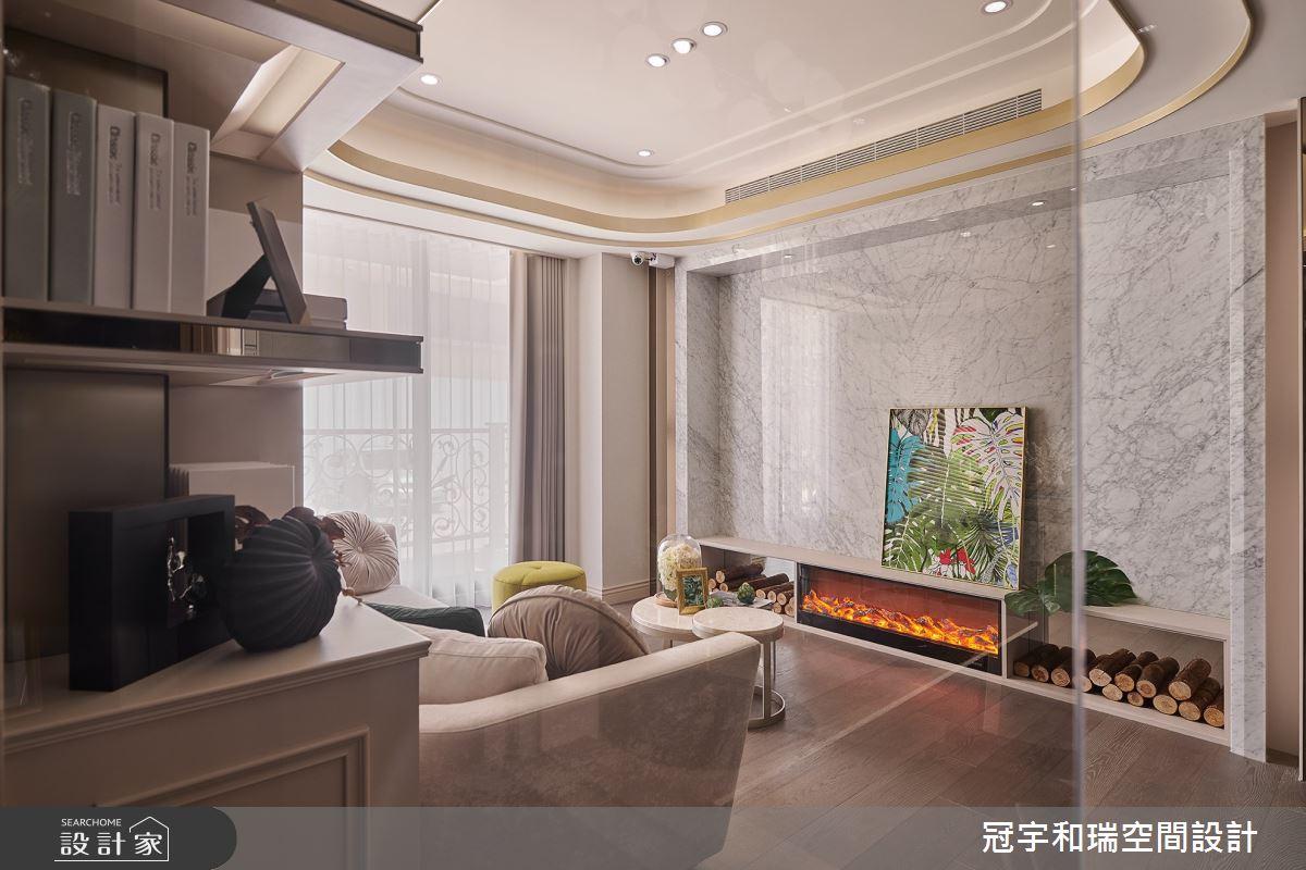 52坪預售屋_奢華風客廳案例圖片_冠宇和瑞空間設計有限公司_冠宇和瑞_13之3