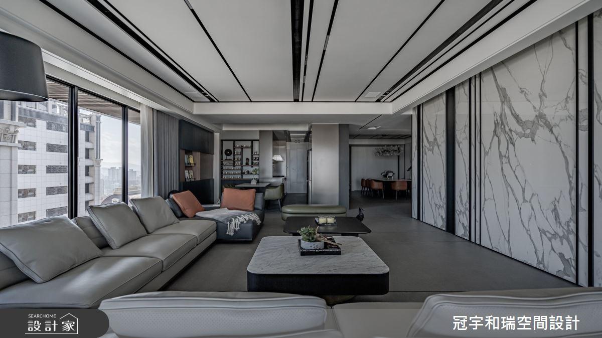 160坪新成屋(5年以下)_混搭風客廳案例圖片_冠宇和瑞空間設計有限公司_冠宇和瑞_23之2