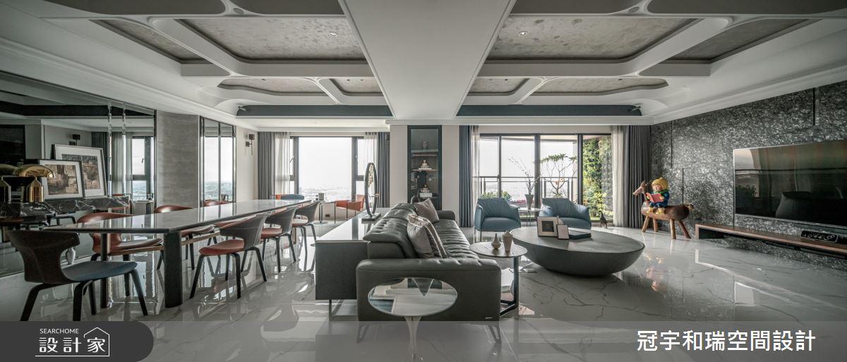 90坪新成屋(5年以下)_混搭風客廳餐廳案例圖片_冠宇和瑞空間設計有限公司_冠宇和瑞_24之4