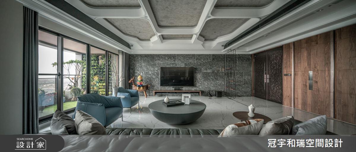 90坪新成屋(5年以下)_混搭風客廳案例圖片_冠宇和瑞空間設計有限公司_冠宇和瑞_24之3