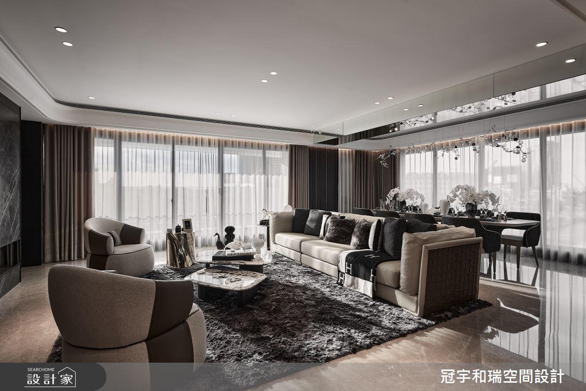 101坪預售屋_現代風客廳案例圖片_冠宇和瑞空間設計有限公司_冠宇和瑞_28之2
