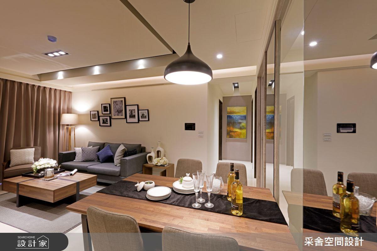 新成屋(5年以下)_北歐風客廳餐廳案例圖片_采舍空間設計_采舍_01之3
