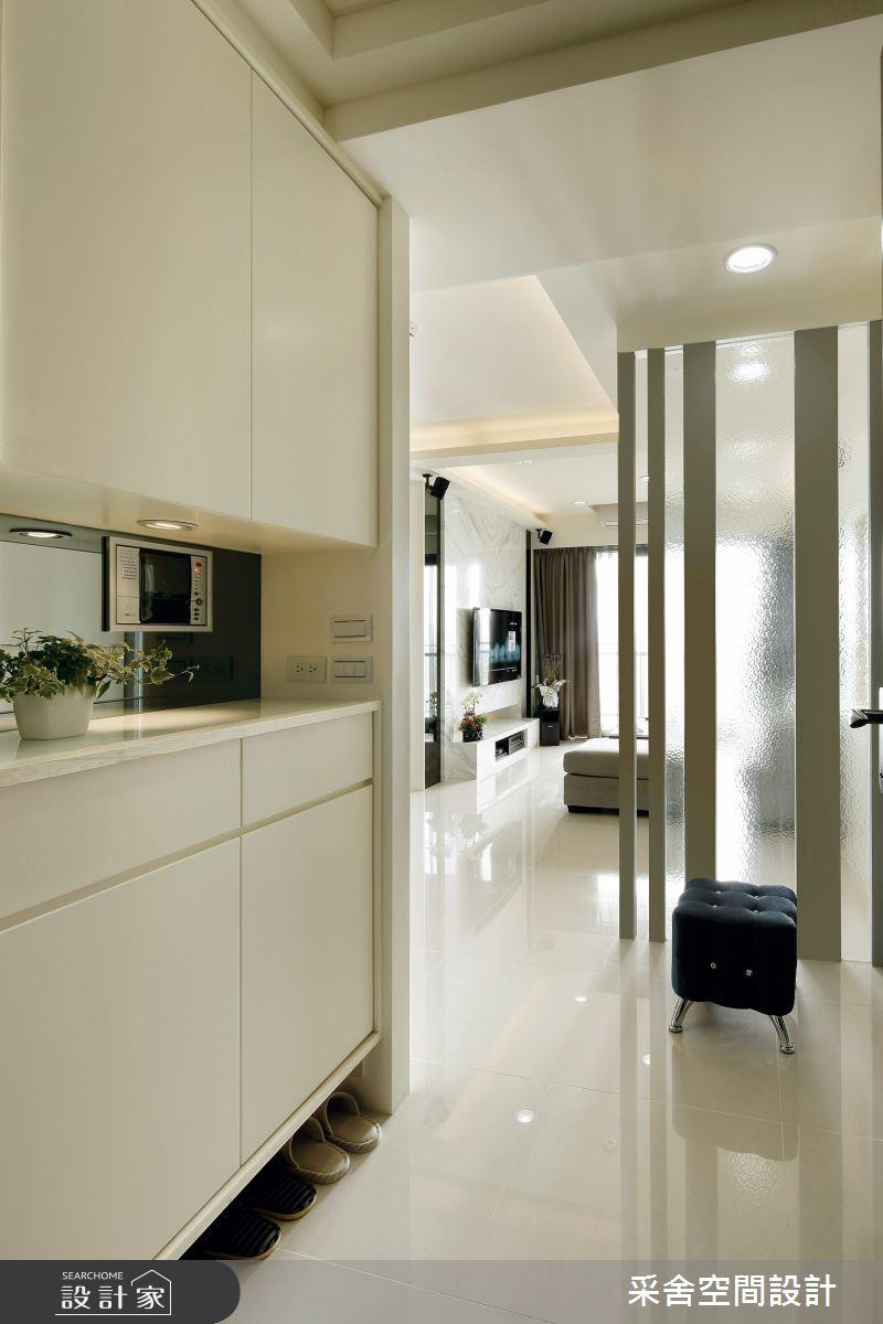 35坪新成屋(5年以下)_北歐風玄關案例圖片_采舍空間設計_采舍_02之1