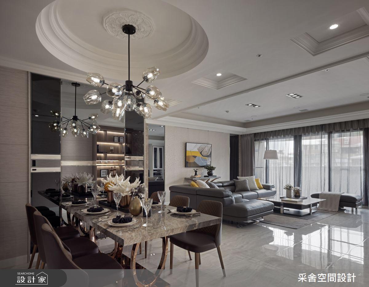 41坪預售屋_新古典客廳餐廳案例圖片_采舍空間設計_采舍_04之6