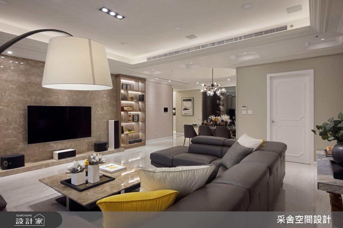 41坪預售屋_新古典客廳案例圖片_采舍空間設計_采舍_04之3
