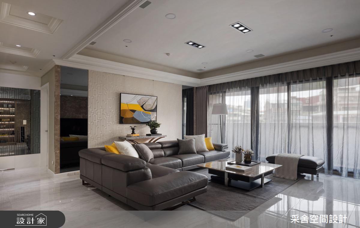 41坪預售屋_新古典客廳案例圖片_采舍空間設計_采舍_04之5