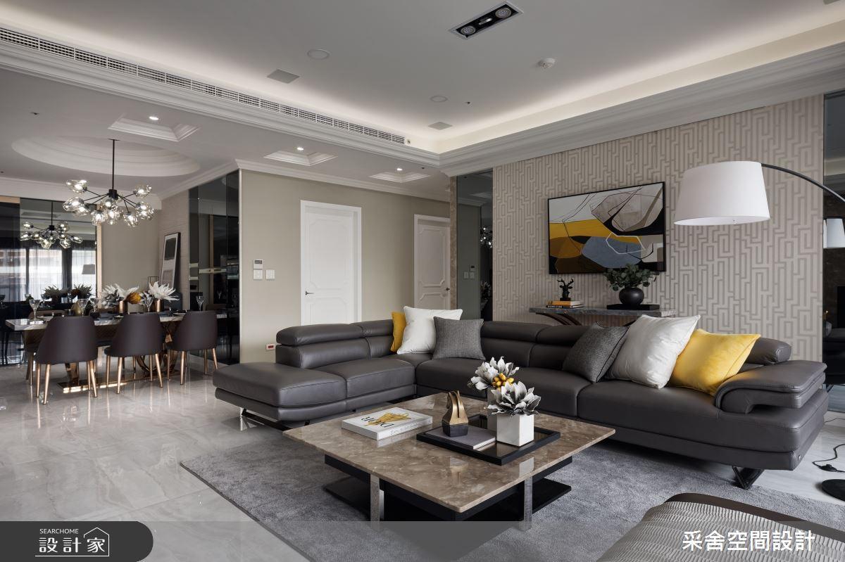 41坪預售屋_新古典客廳餐廳案例圖片_采舍空間設計_采舍_04之4