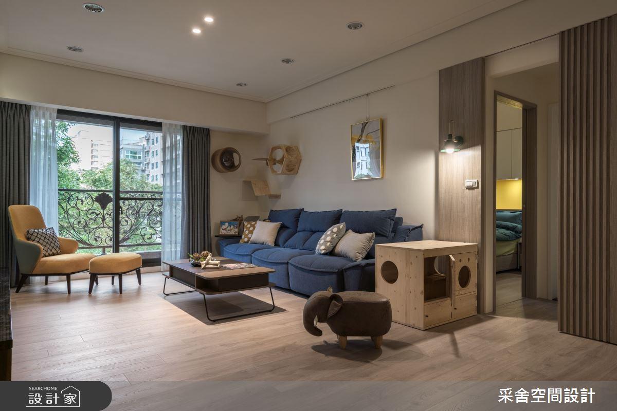 35坪新成屋(5年以下)_北歐風客廳案例圖片_采舍空間設計_采舍_06之4