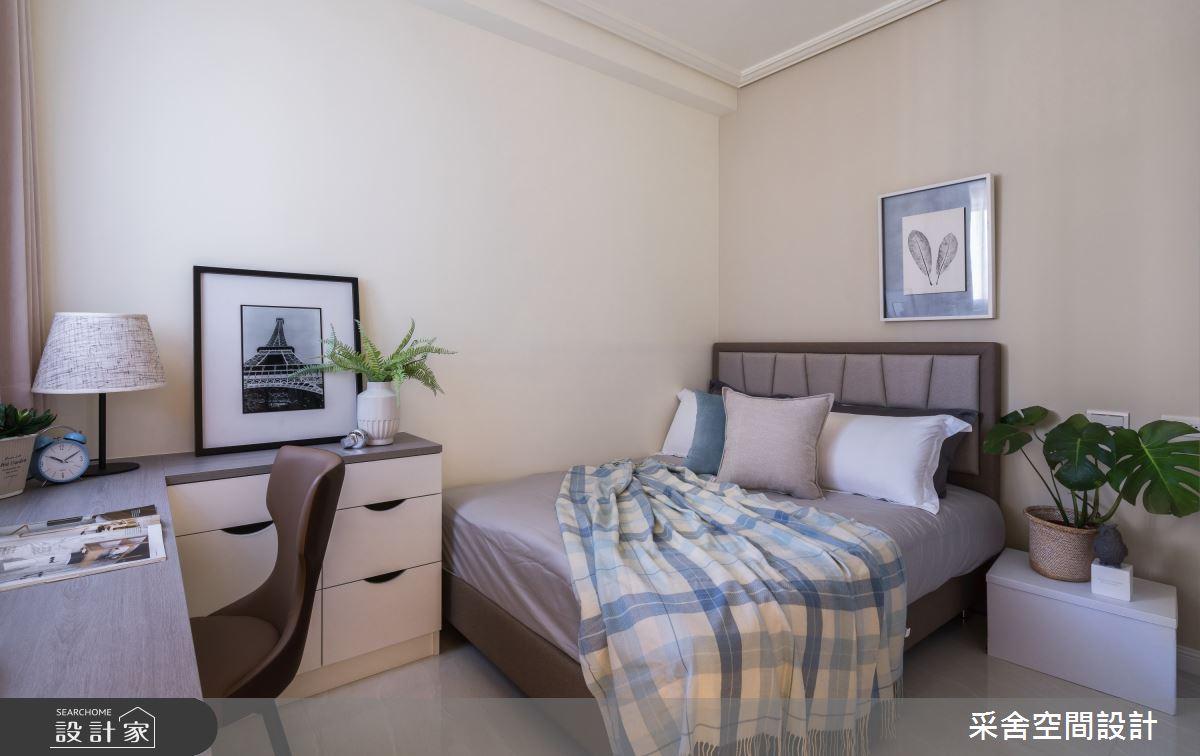 40坪新成屋(5年以下)_現代風臥室案例圖片_采舍空間設計_采舍_10之12