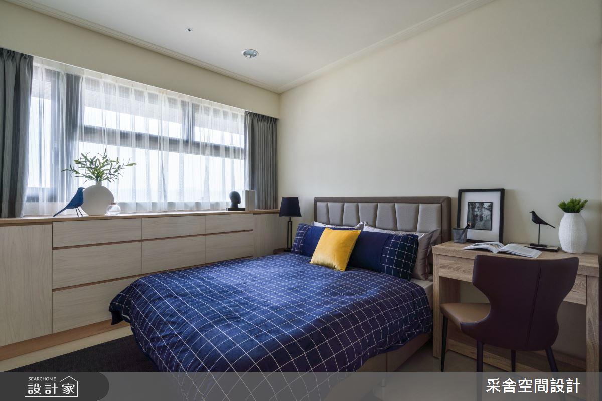 40坪新成屋(5年以下)_現代風臥室案例圖片_采舍空間設計_采舍_10之14