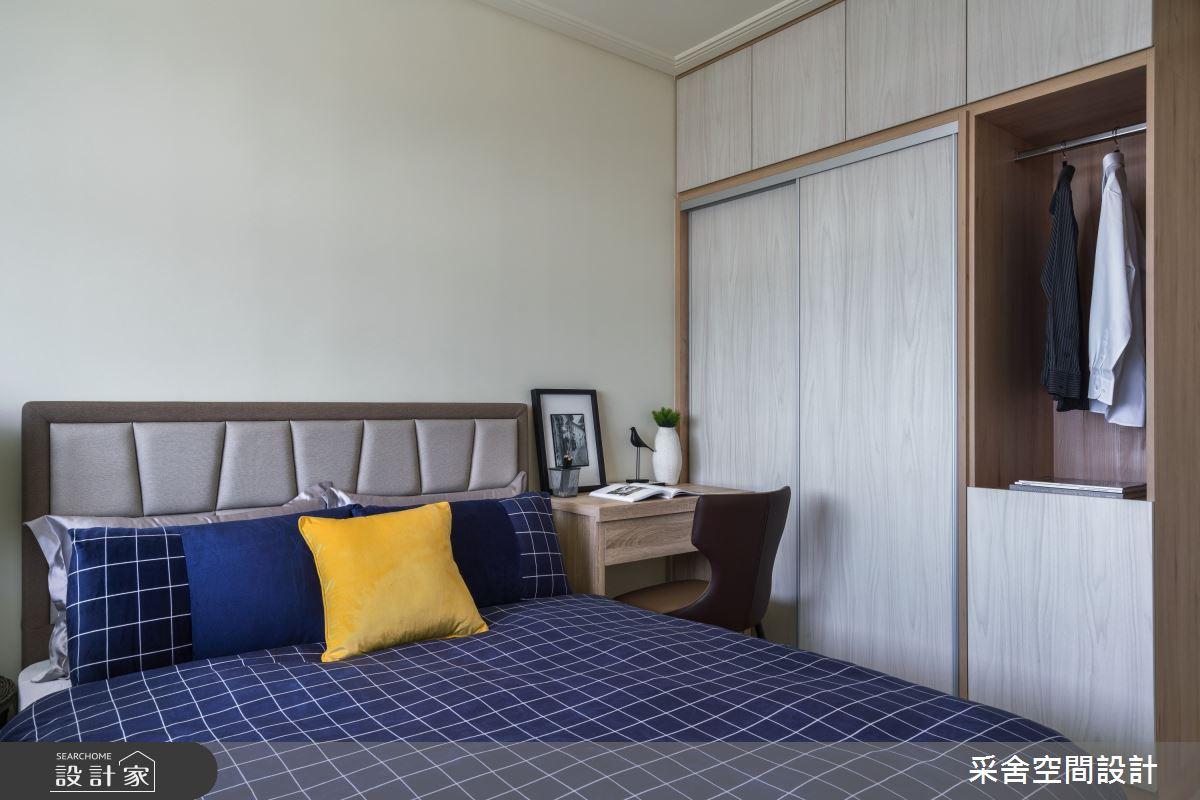 40坪新成屋(5年以下)_現代風臥室案例圖片_采舍空間設計_采舍_10之15
