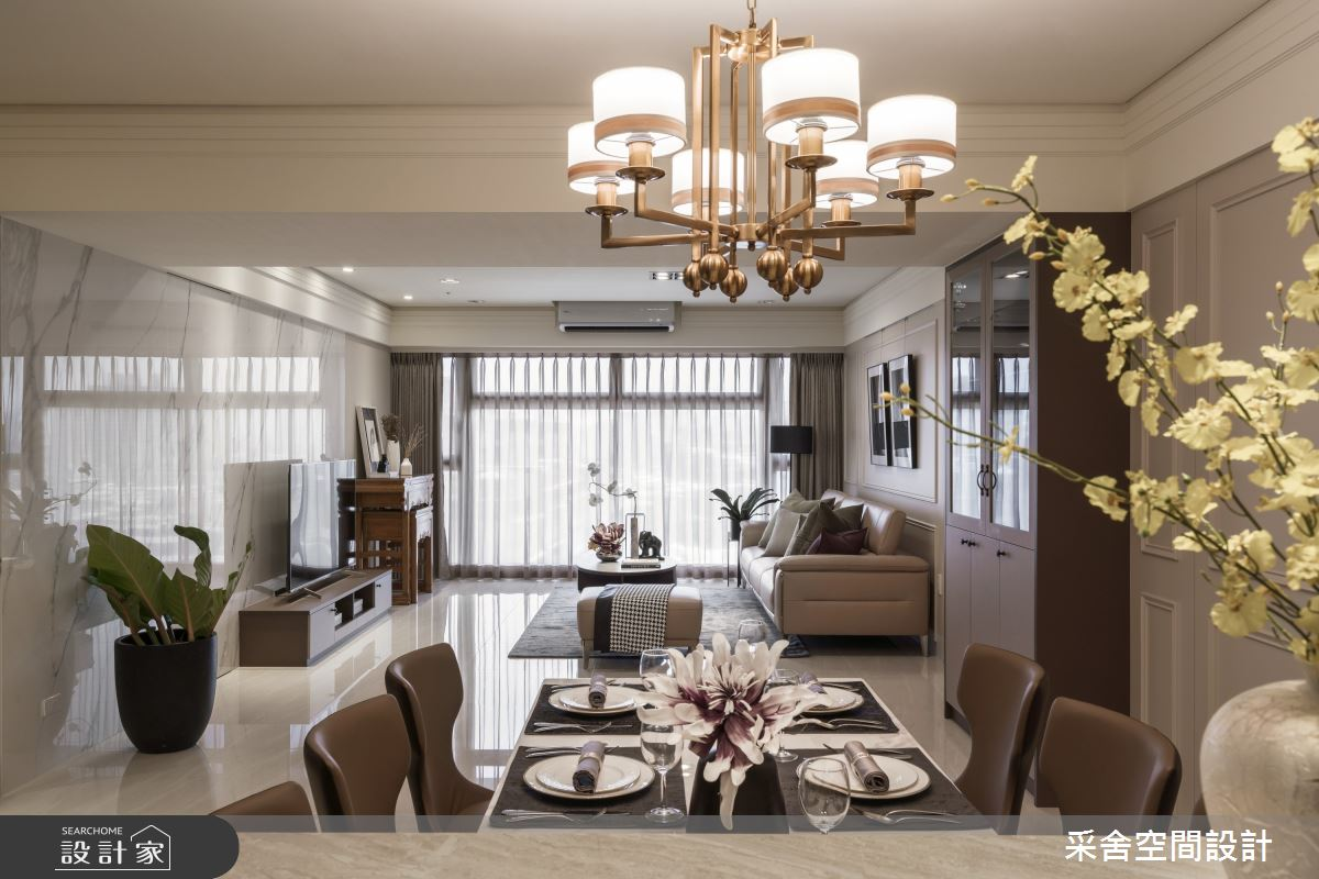 40坪新成屋(5年以下)_現代風餐廳案例圖片_采舍空間設計_采舍_10之6