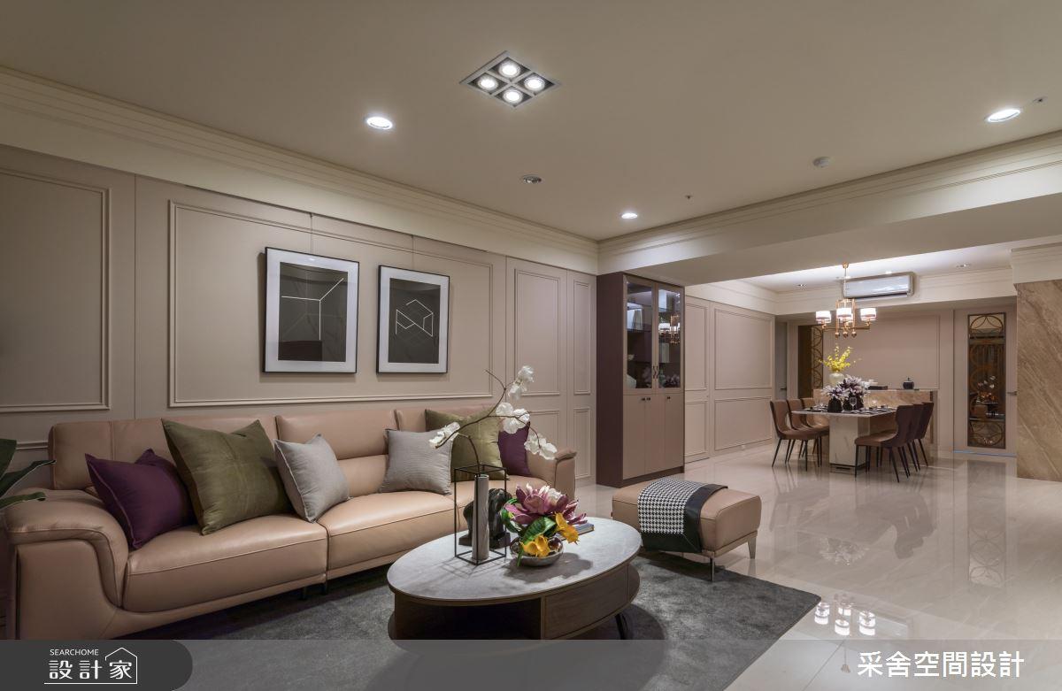 40坪新成屋(5年以下)_現代風客廳案例圖片_采舍空間設計_采舍_10之7