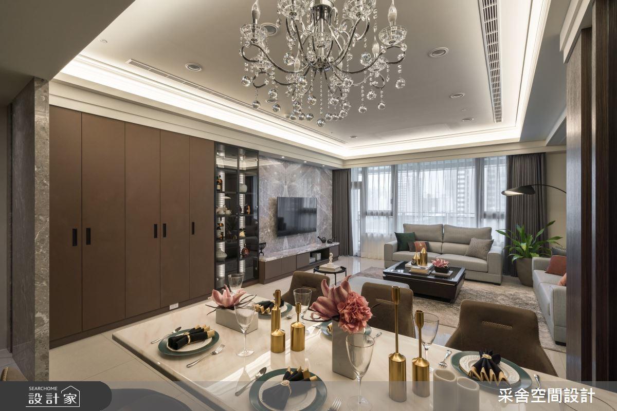 33坪新成屋(5年以下)_現代風餐廳案例圖片_采舍空間設計_采舍_11之3
