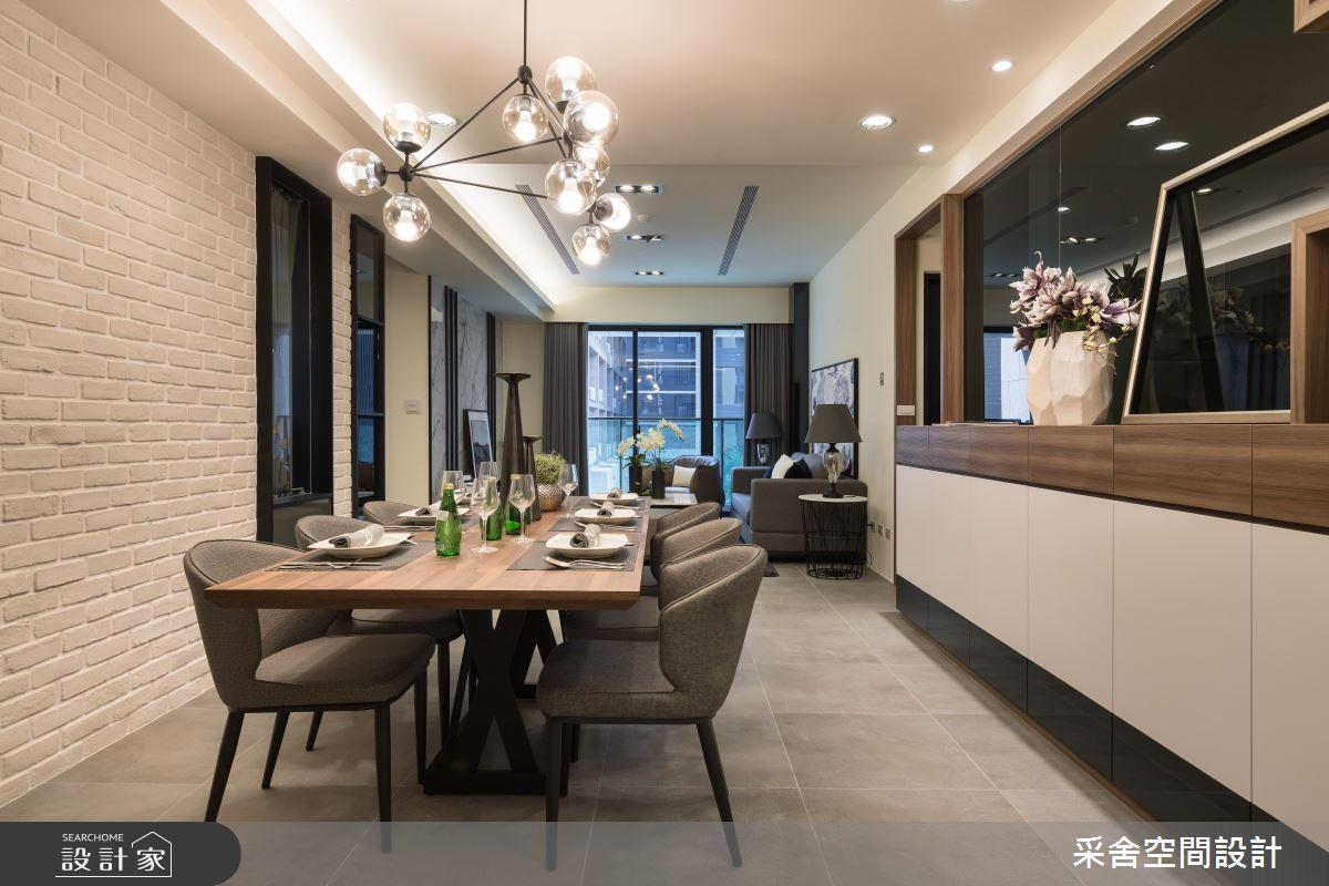 34坪新成屋(5年以下)_現代風餐廳案例圖片_采舍空間設計_采舍_12之3
