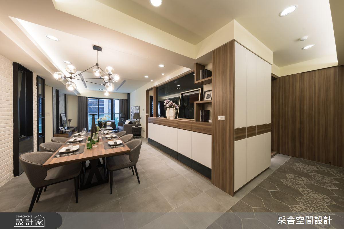 34坪新成屋(5年以下)_現代風餐廳案例圖片_采舍空間設計_采舍_12之2