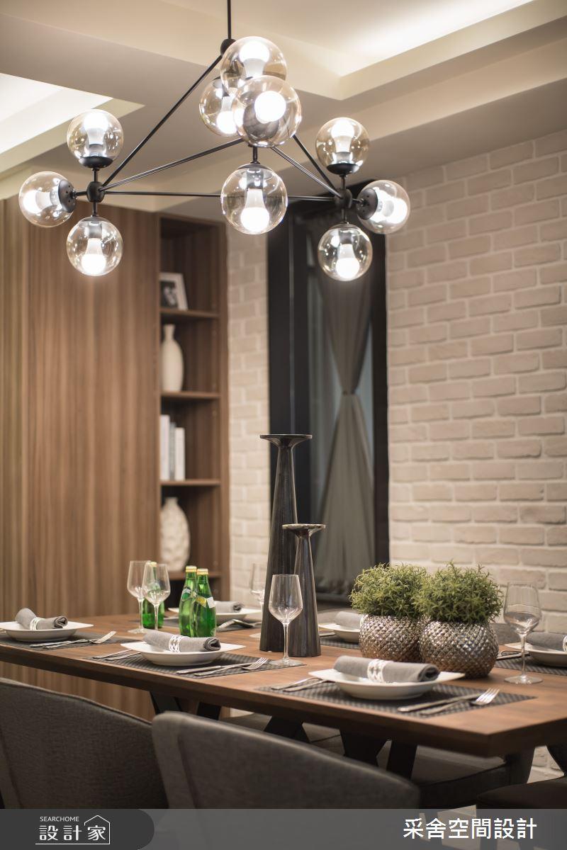 34坪新成屋(5年以下)_現代風餐廳案例圖片_采舍空間設計_采舍_12之4