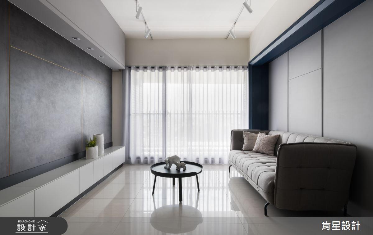 18坪新成屋(5年以下)_簡約風客廳案例圖片_肯星設計_肯星_07之3
