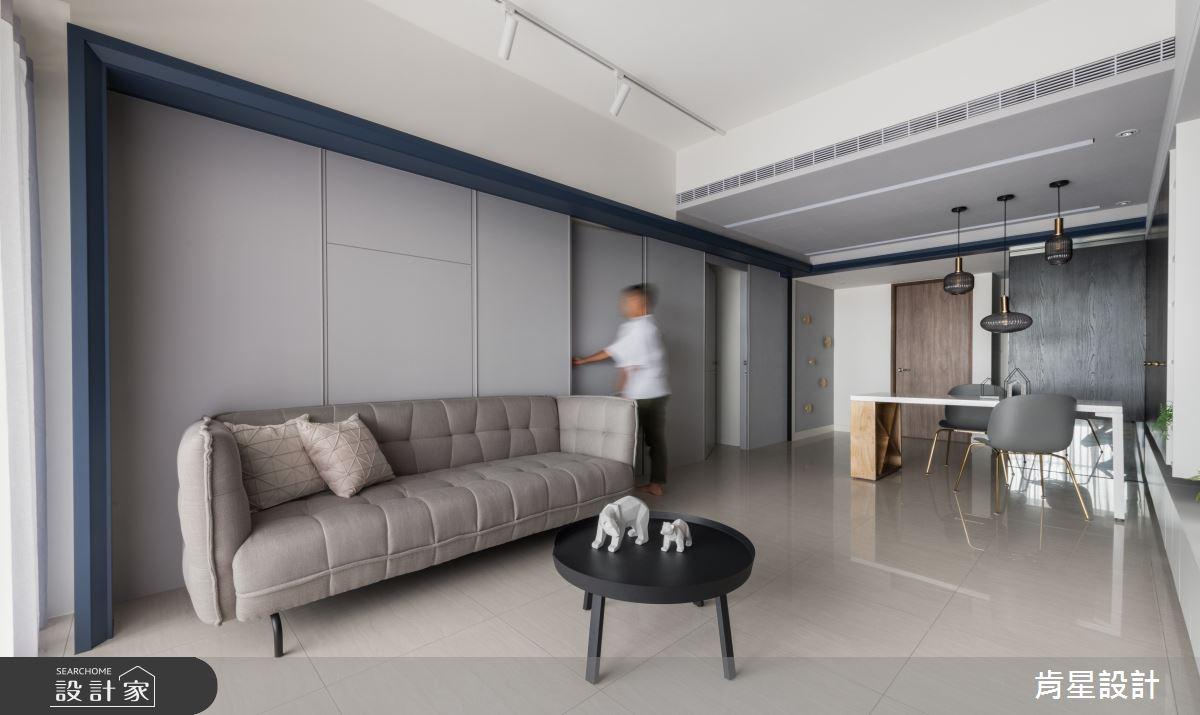 18坪新成屋(5年以下)_簡約風客廳案例圖片_肯星設計_肯星_07之4