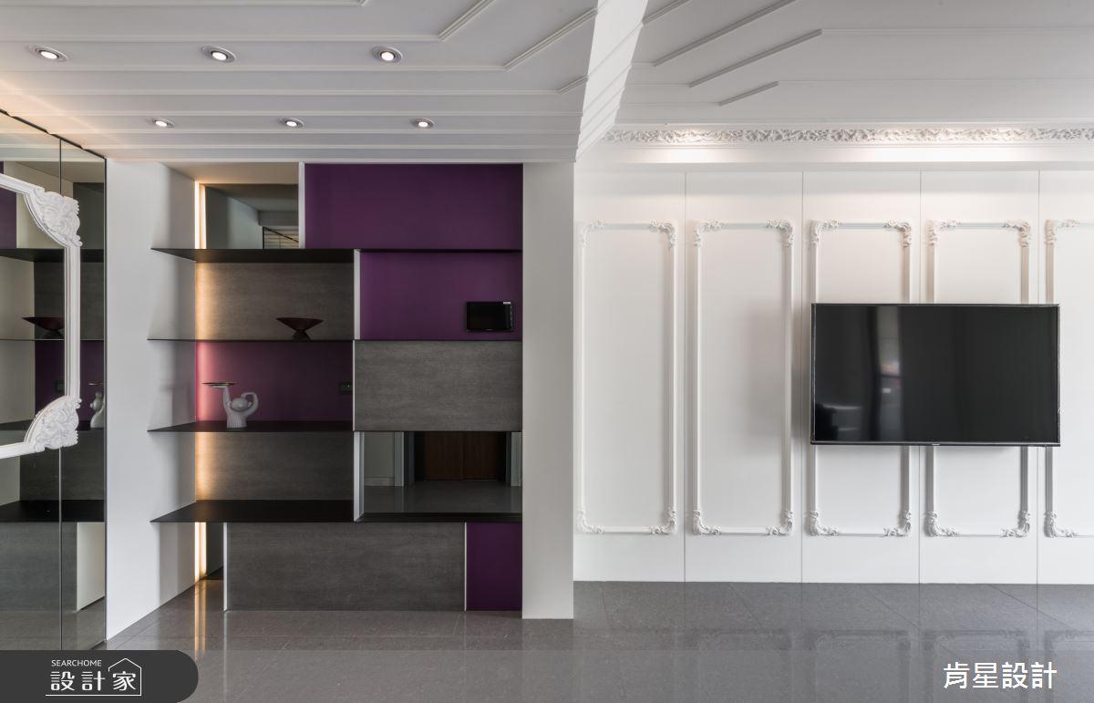 75坪新成屋(5年以下)_新古典客廳案例圖片_肯星設計_肯星_08之2