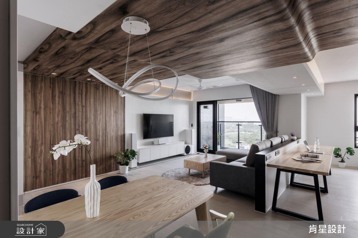 32坪新成屋(5年以下)_日式無印風客廳餐廳書房案例圖片_肯星設計_肯星_10之10