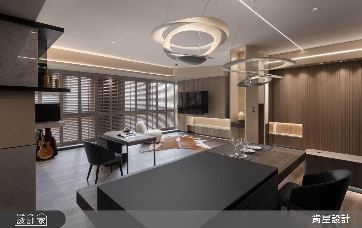 26坪新成屋(5年以下)_現代風客廳吧檯案例圖片_肯星設計_肯星_12之1