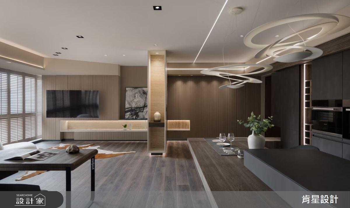 26坪新成屋(5年以下)_現代風客廳吧檯案例圖片_肯星設計_肯星_12之2