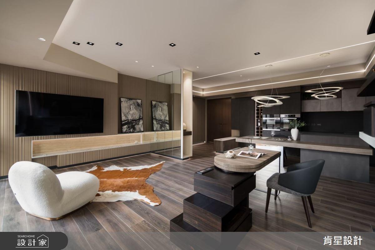 26坪新成屋(5年以下)_現代風客廳吧檯案例圖片_肯星設計_肯星_12之3