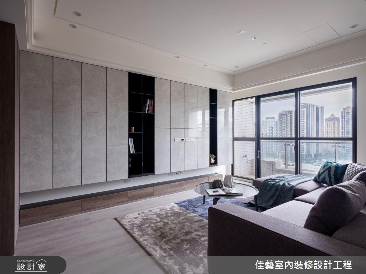 30坪新成屋(5年以下)_現代風客廳案例圖片_佳藝室內裝修設計工程有限公司_佳藝_01之5
