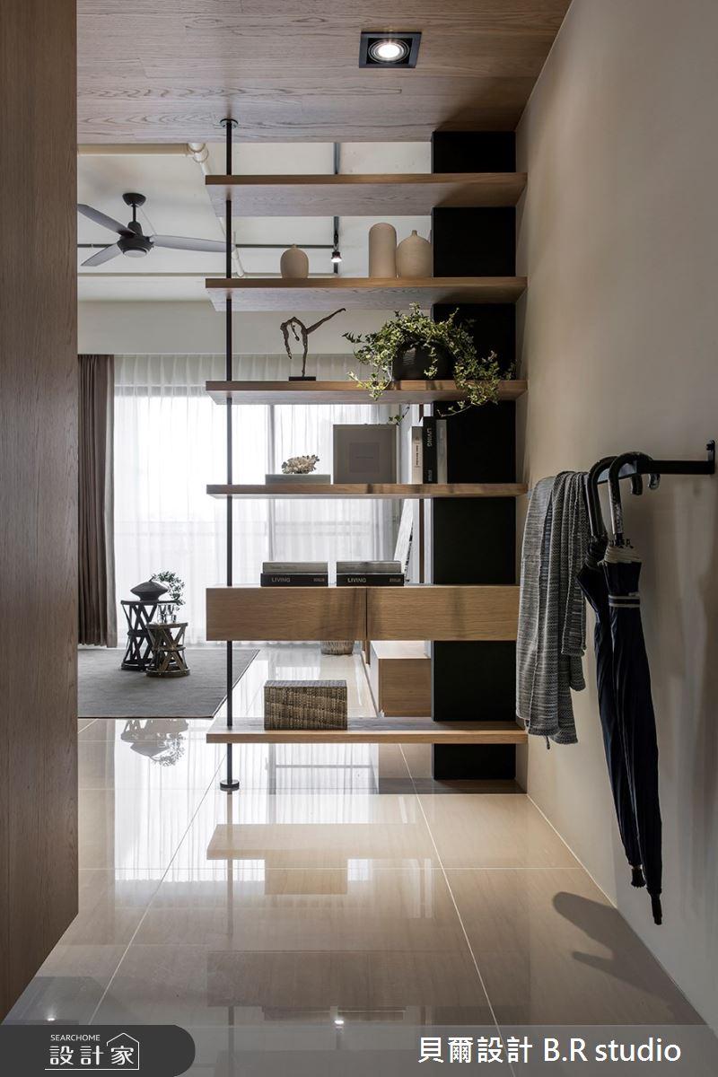 34坪新成屋(5年以下)_混搭風玄關案例圖片_貝爾設計 B.R studio_貝爾_02之1