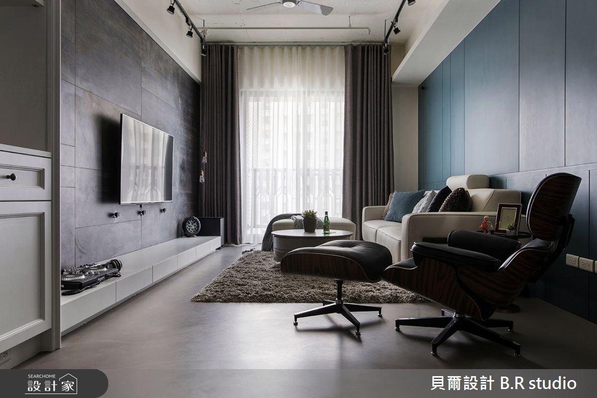 24坪新成屋(5年以下)_混搭風客廳案例圖片_貝爾設計 B.R studio_貝爾_03之3