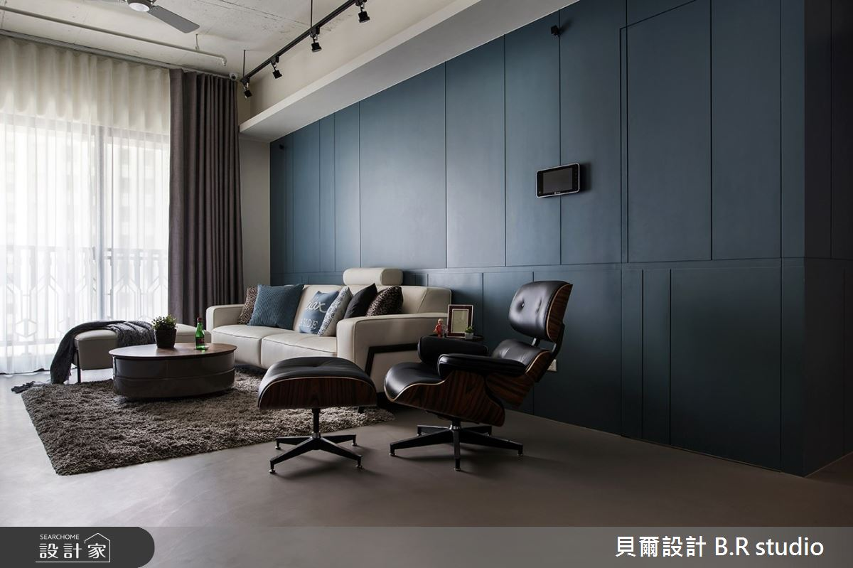 24坪新成屋(5年以下)_混搭風客廳案例圖片_貝爾設計 B.R studio_貝爾_03之4