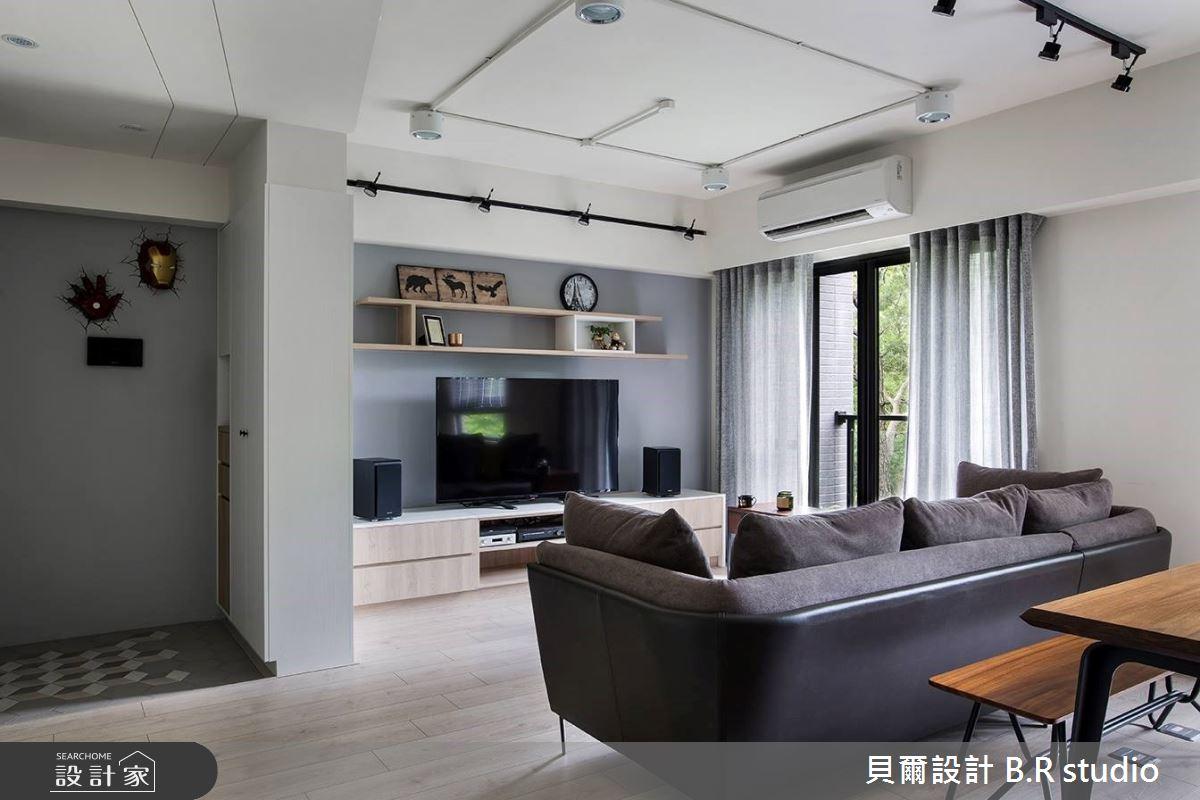 26坪新成屋(5年以下)_北歐風客廳案例圖片_貝爾設計 B.R studio_貝爾_04之4
