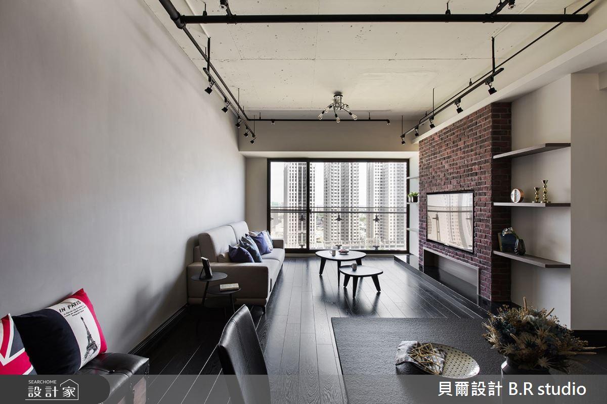 30坪新成屋(5年以下)_工業風客廳案例圖片_貝爾設計 B.R studio_貝爾_07之2