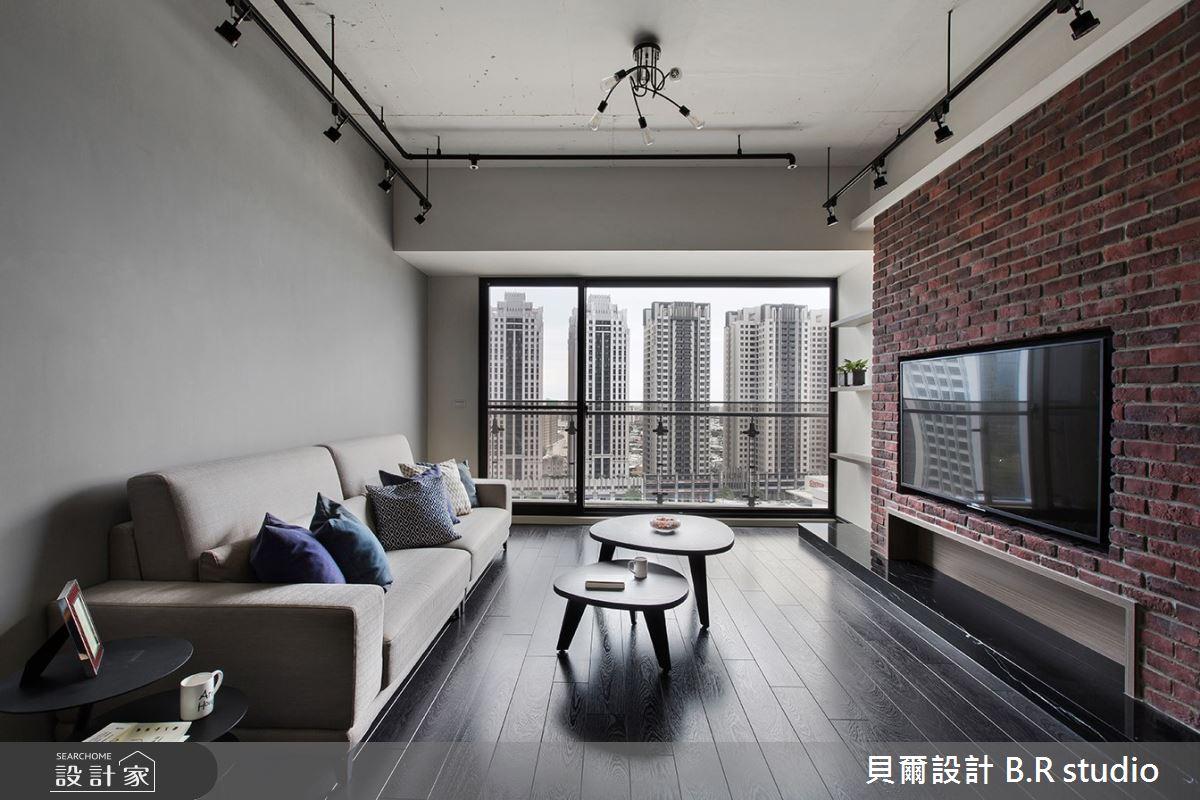 30坪新成屋(5年以下)_工業風客廳案例圖片_貝爾設計 B.R studio_貝爾_07之4
